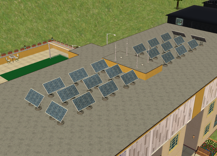 Teleprompter Apartments rooftop solar panels