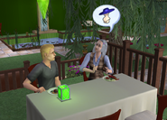Cody and Beth eating out
