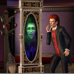 Espejo con interacciones mágicas.