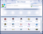 TS4 Custom Holiday Creation