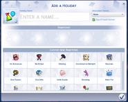 TS4 Custom Holiday Creation