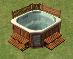 Ts2 bubble up soaking zone hot tub