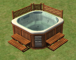 Ts2 bubble up soaking zone hot tub