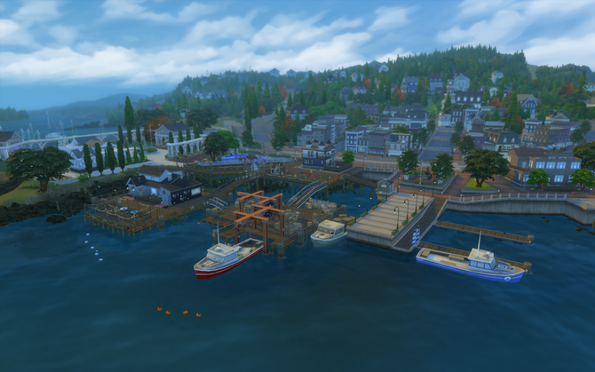 Whiskerman's Wharf overview