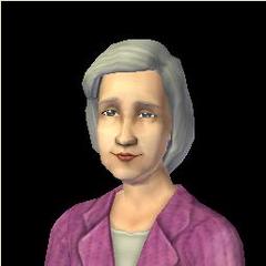 Tífani Clavel en Los Sims 2, fallecida.