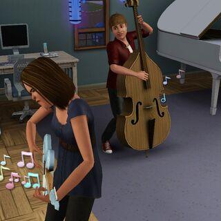Los Sims adolescentes pueden mejorar sus habilidades instrumentales.