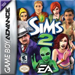 The Sims 2 GBA box artwork