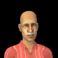 Valentine Monty as an elder