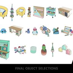 Los objetos finales elegidos para el Modo Construir/Comprar