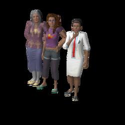Oma en kleindochters huishouden