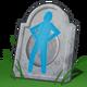 Hologram van grafsteen uit de toekomst