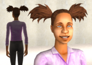 (TS2 Remake) Beta Pigtails (Brown)