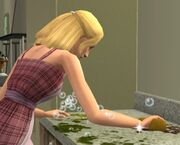 En sim som vasker