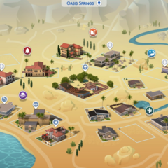 Mapa de Oasis Springs
