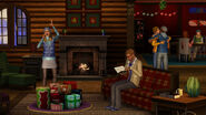 TS3 seasons winter familyroom
