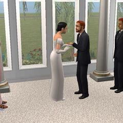 María Antonia y Daniel Gentil en su boda.