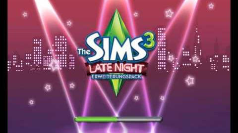 Los Sims 3 Al caer la noche - Pantalla de carga