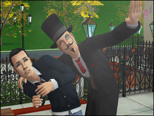 File:Sim getting swindled by Unsavory Charlatan.png