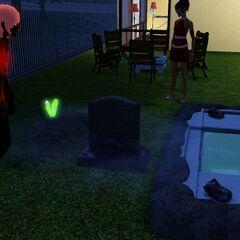 La lápida de un vampiro al morir de sed.