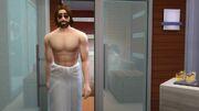 TS4 GP02 Sim exiting sauna