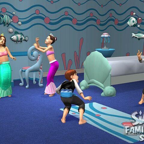 Niño en Los Sims 2.