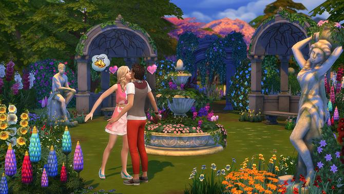 Sims4 Jardin Romantico 2