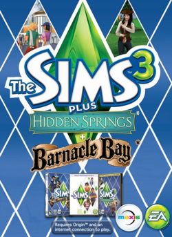 The Sims 3 Plus Hidden Springs and Barnacle Bay Cover