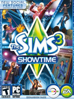 The Sims 3 Showtime Cover