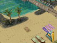 Общественный пляж в Симтауне летом