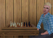 Ethan Bunch playing chess
