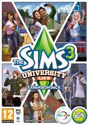 The sims 3 university life box art