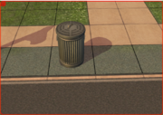 Residential outdoor trash can