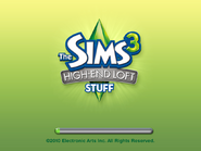 Sims 3 High-End Loft Stuff US Startup Screen