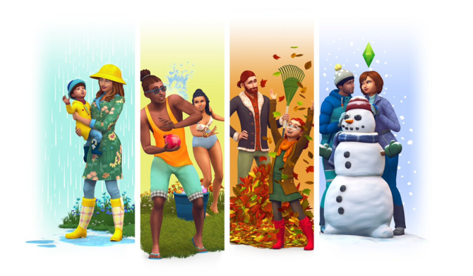 Sims 4 Seasons render