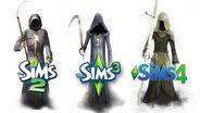 ♦ Sims 2 vs Sims 3 vs Sims 4 Death