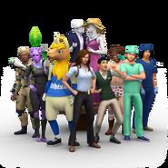 Les Sims 4 Au Travail Sims promotionnels