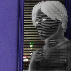 El fantasma de un Sim que murió de la maldición de la momia.