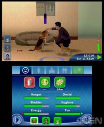 335px-TS3 Pets learning handshake skill 3DS (1)