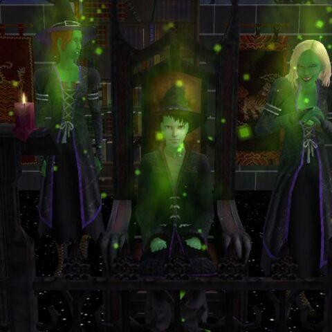 Brujas y brujos malvados.