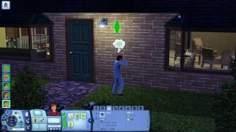 The Sims 3 - fishing and playing guitar in Riverview