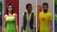 Sophia, Ollie, and Andre
