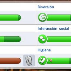 Necesidades en Los Sims 4.