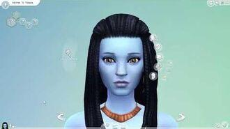 The Sims 4 Create a Sim Neytiri Te Tskaha