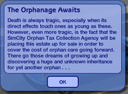 The Sims 2 The Orphanage Awaits Message