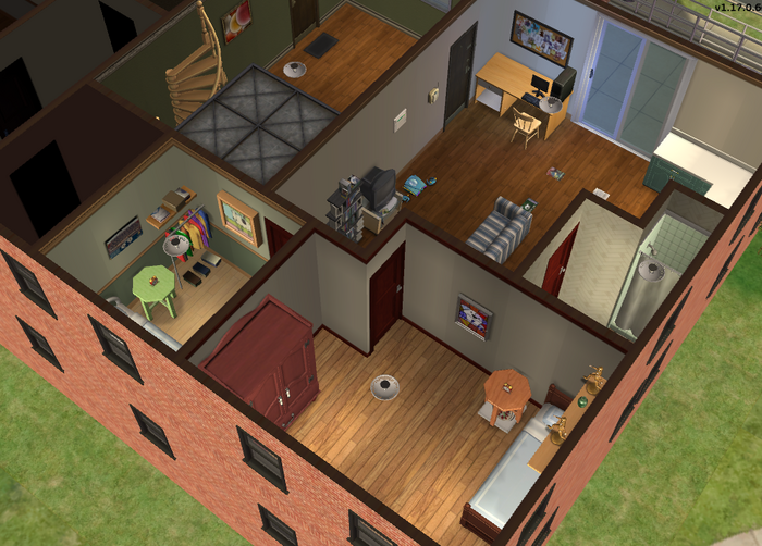Walker family apartment - isometric 1