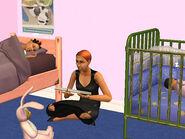 Isabel lit au chevet