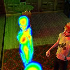 Sims que son cazados por un vampiro.