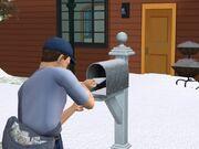 Почтальон кладёт счета в почтовый ящик (2)