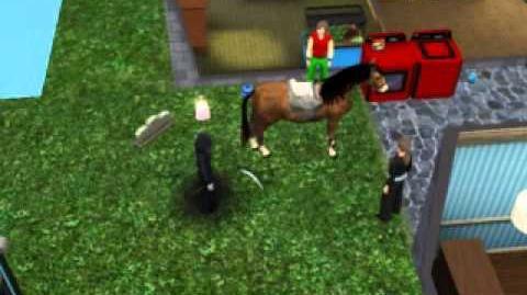 Los sims 3 vaya fauna muerte de caballo