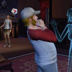 Fantasmas interactuando con Sims.